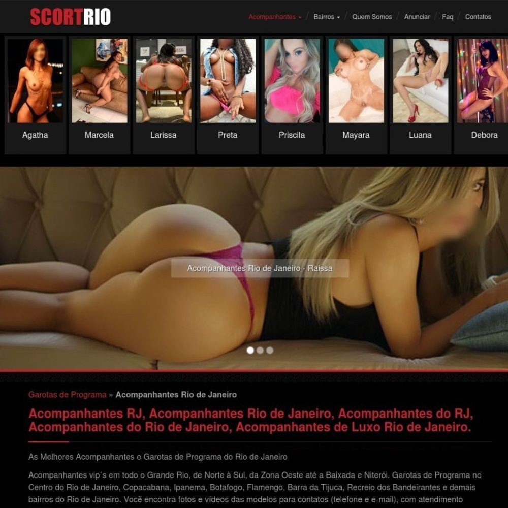 Site de acompanhantes RJ, acompanhantes Rio de Janeiro, garotas de programa RJ, garotas de programa Rio de Janeiro, acompanhantes de luxo Rio de Janeiro, acompanhantes, loiras, morenas, famosas, mestiças, orientais, japonesas, maduras, malhadas, mulatas, coroas, saradas, musculosas, atriz porno, prostitutas Rio de Janeiro / RJ capital, Brasil
